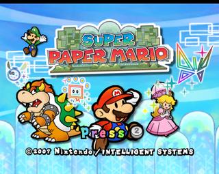 Super Paper Mario The Cutting Room Floor