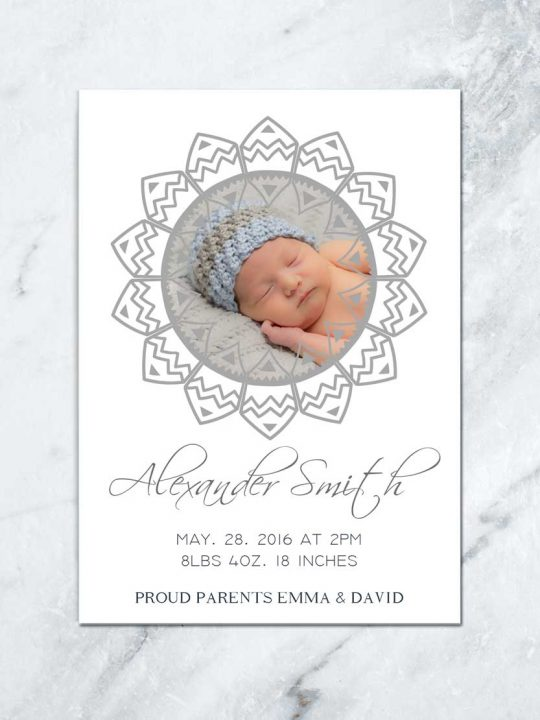 Newborn Baby Photo Card \u2022 TDA Party On Paper