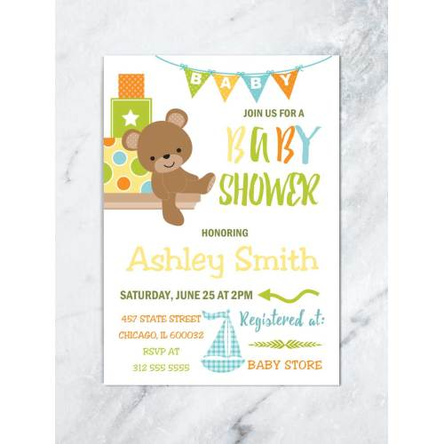 Medium Crop Of Boy Baby Shower Invitations