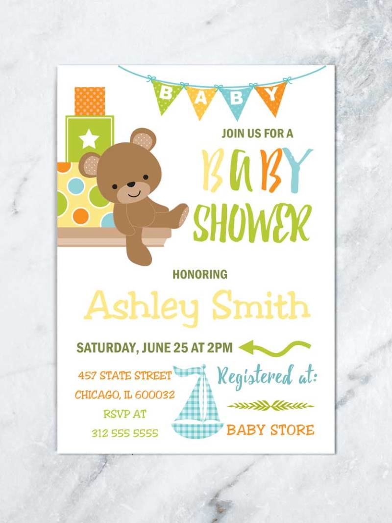 Large Of Boy Baby Shower Invitations