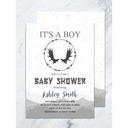 Woodland Baby Shower Invitations