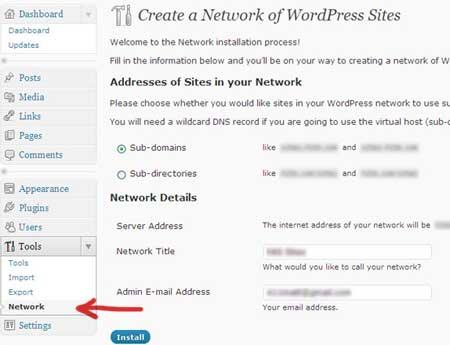 Panel multiblogs en WordPress