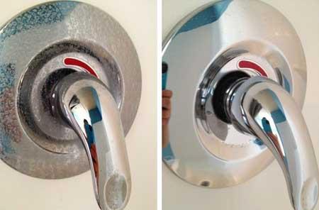 Agua dura: antes y después
