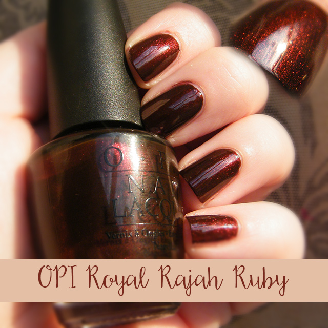 OPI Royal Rajah Ruby Swatch