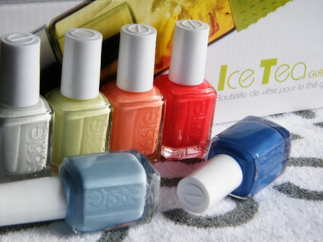 Essie Peach Side Babe Collection Swatches - Tea & Nail Polish
