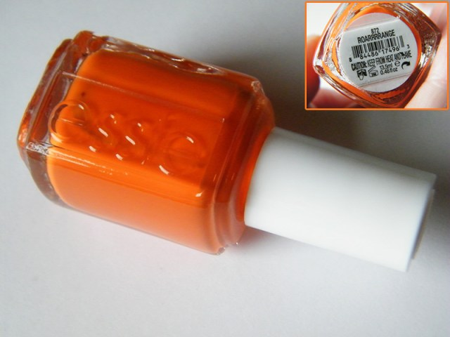 Orange Nail Polish Swatches: Essie Roarrrrange