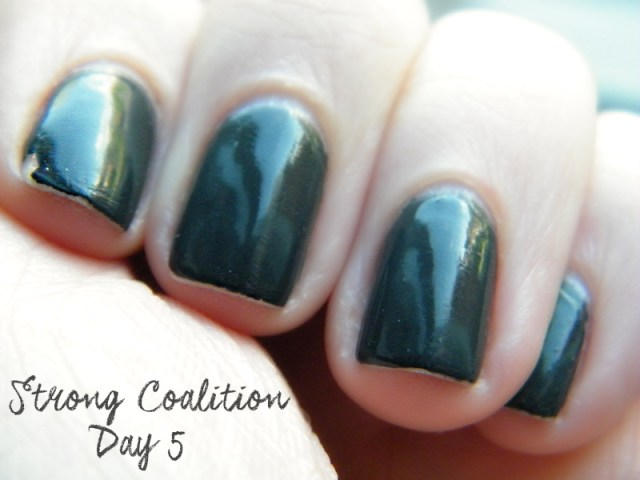 OPI Infinite Shine Strong Coalition Swatch & Review Day 5