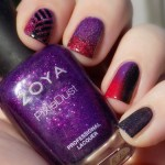 When Colours Collide – Red, Purple & Black With No Stamping