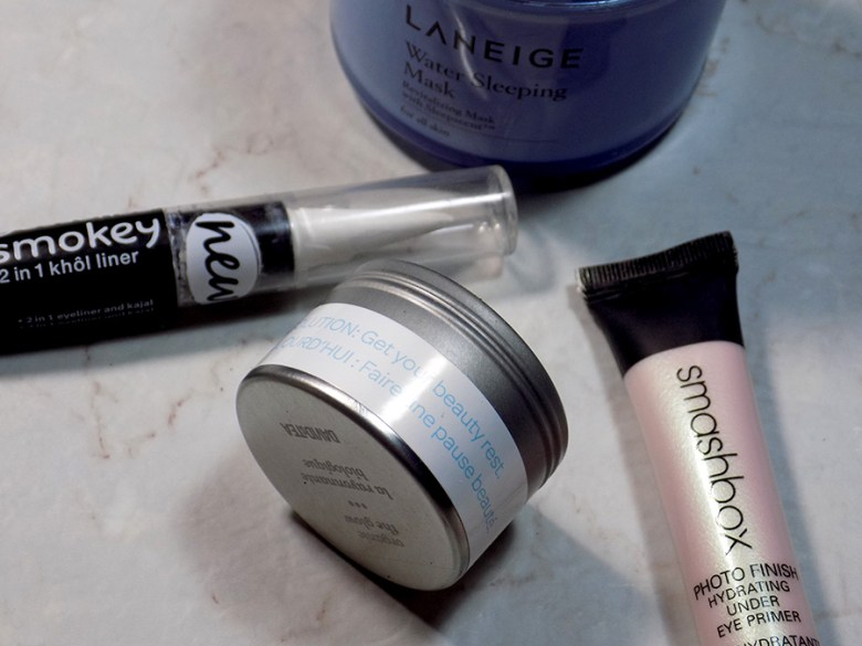 DavidsTea The Glow Review - DavidsTea Resolutions Beauty Rest - Smashbox Primer, Essence Kohl White Liner and Laneige Sleep Mask