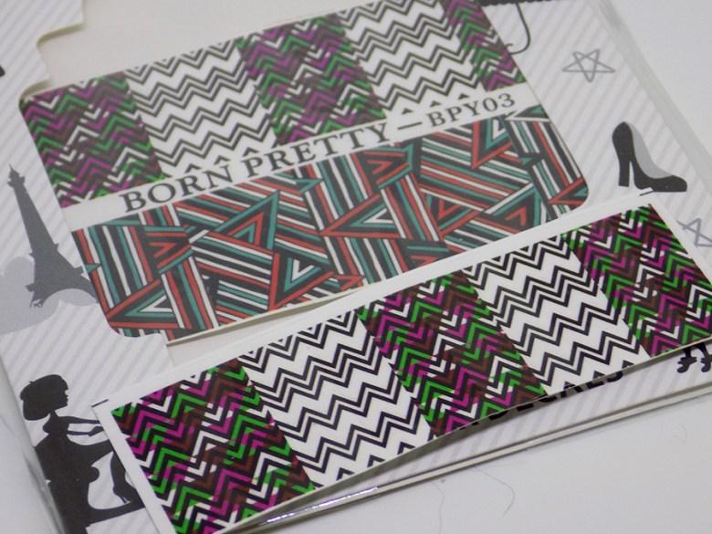 BP-Y03 Born Pretty Wave Design Nail Decals