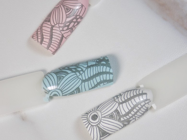 BP Born Pretty Grey Stamping Polish Swatches - Over Light Colours