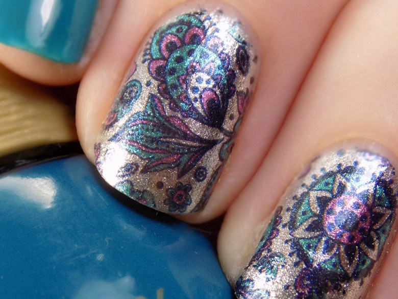 Born Pretty BP W19 Turquoise and Purple Water Decals with Quo Best Dressed