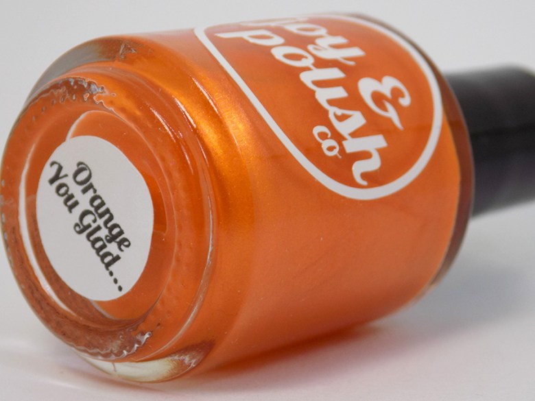 Joy and Polish Orange You Glad - Macro Bottle Shot