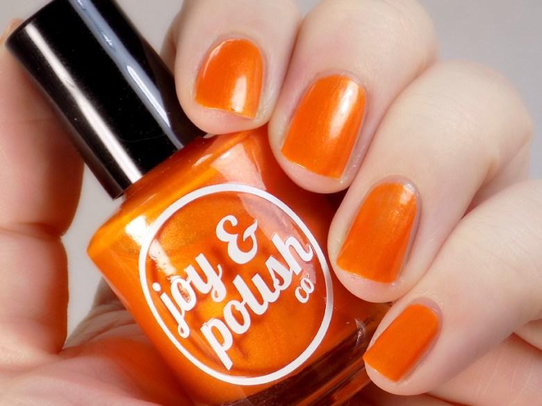 Joy and Polish Orange You Glad - Swatch