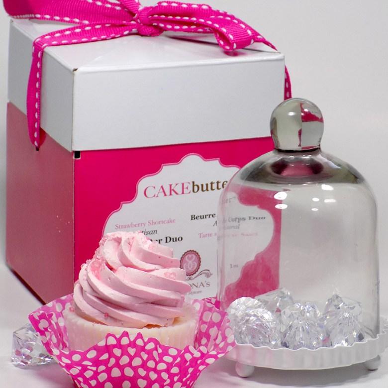 Simonas Sweet Skincare Review - Strawberry Shortcake Cake Butter Duo 1