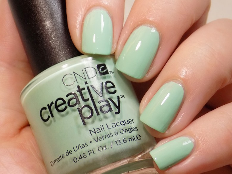 CND Creative Play Shady Palms from Sunset Bash Collection - Swatch in Artificial Light
