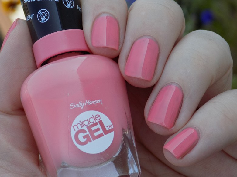 Sally Hansen Miracle Gel 180 Rosey Riviter Swatches Shad
