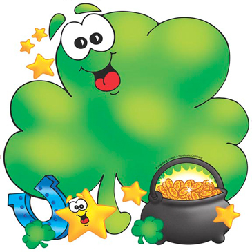 Shamrock and Pot of Gold Printable Clip Art and Images
