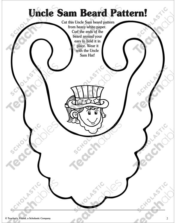 Uncle Sam Activities! Printable Arts, Crafts and Skills Sheets