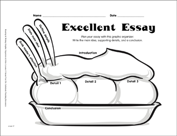 Writing Graphic Organizer Excellent Essay Printable