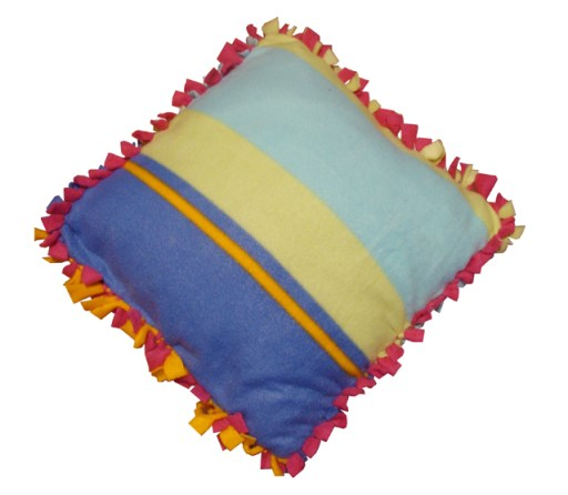 no-sew fleece pillow