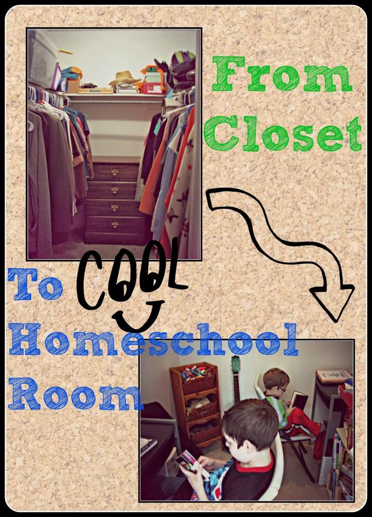 Closet to a Homeschool room