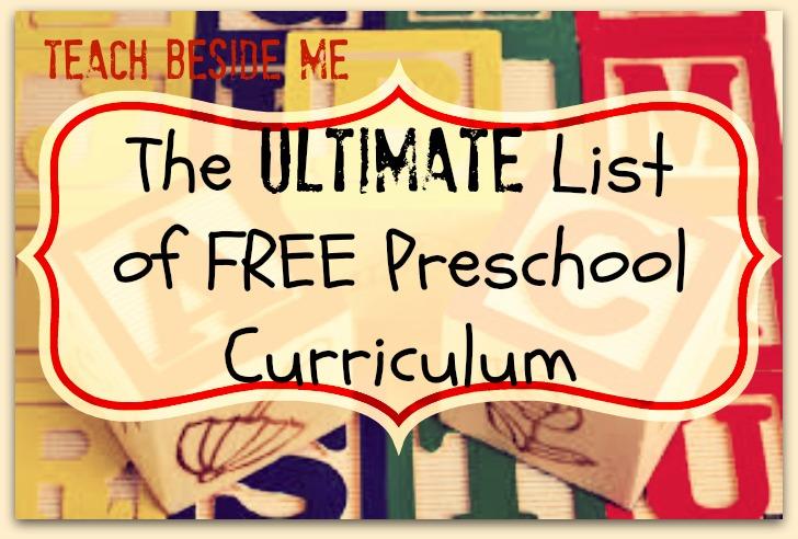 Ultimate List of Free Preschool Curriculum Resources \u2013 Teach Beside Me