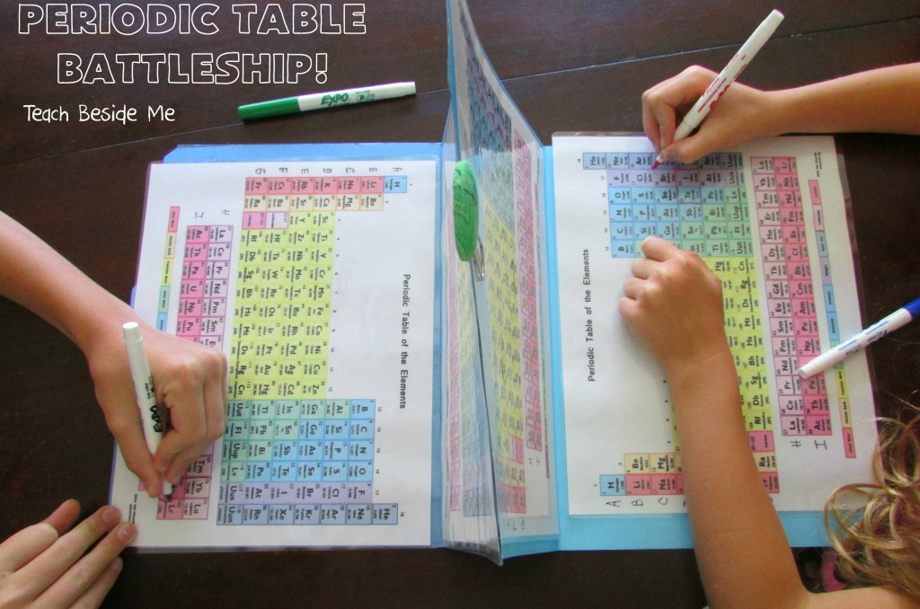 Periodic Table Battleship - Teach Beside Me - sample battleship game