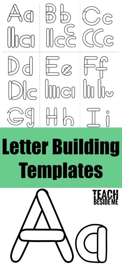 Alphabet Letter Building Templates \u2013 Teach Beside Me