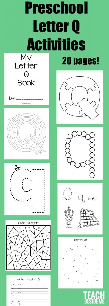 Letter of the Week Preschool Letter Q Activities \u2013 Teach Beside Me