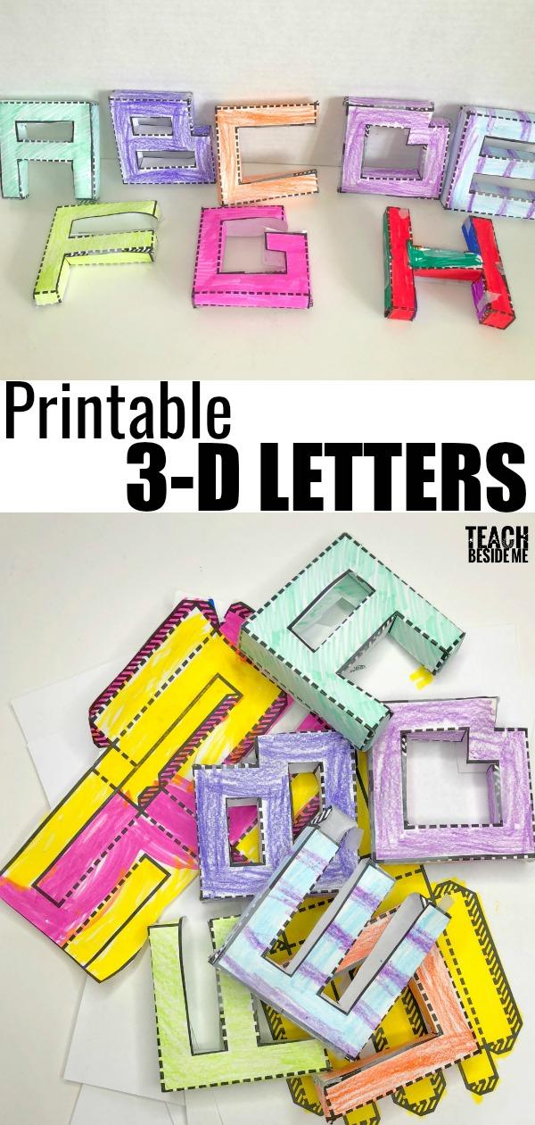 Printable 3D Letters \u2013 Teach Beside Me