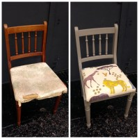 BEFORE & AFTER OF AN UPCYCLED CHAIR  TEACH CRAFT REVOLUTION