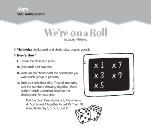 picture of We're on a Roll math game