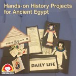 Hsitory Pockets Ancient Egypt crafts laid out