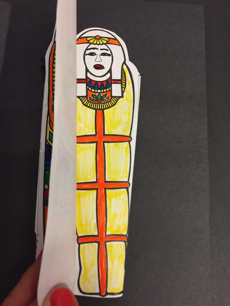 Pharaoh, mummy sarcophagus from Ancient Egyptian Tomb for social studies report