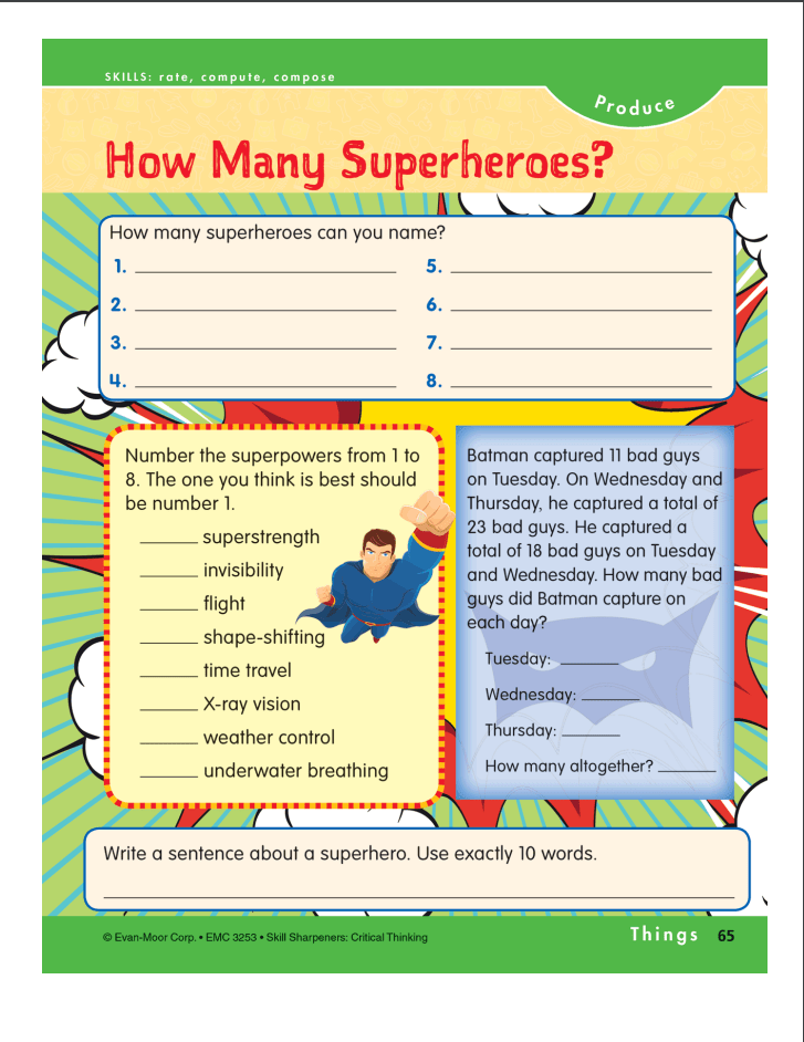 super hero activity pages