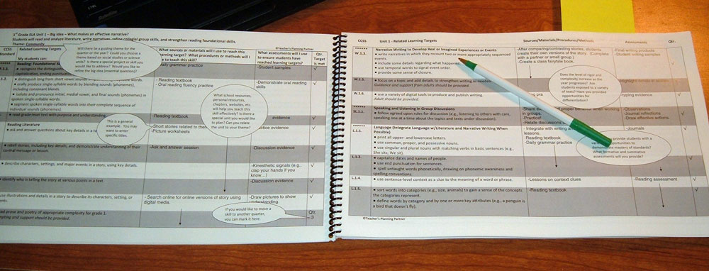 Lesson plan books for CCSS with Learning Targets - lesson plan book template