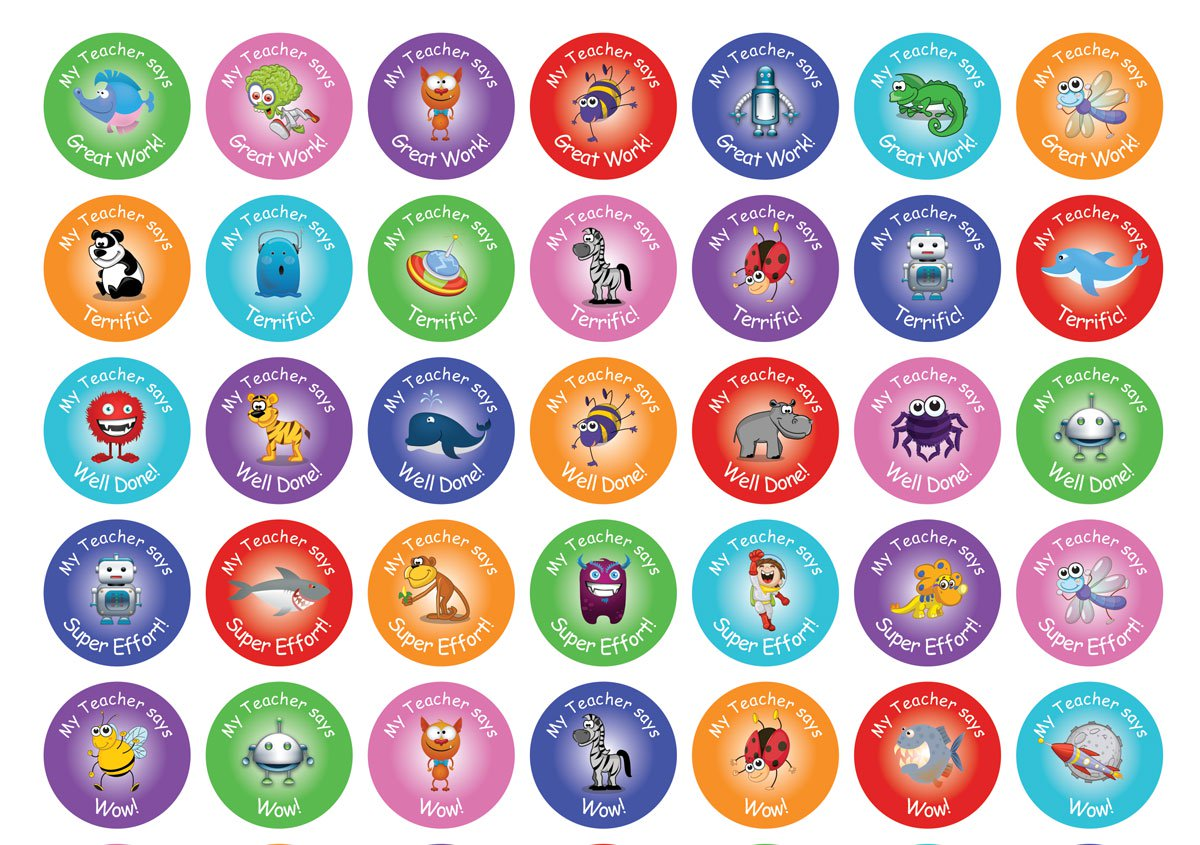 Personalised Sticker Personalised Teacher Merit Sticker Sample