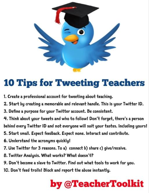 10 TIps for Tweeting Teachers by @TeacherToolkit