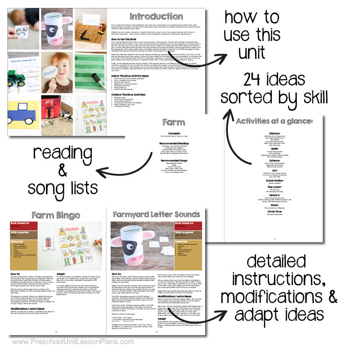 An Entire Year of Preschool Lesson Plans - preschool lesson plan