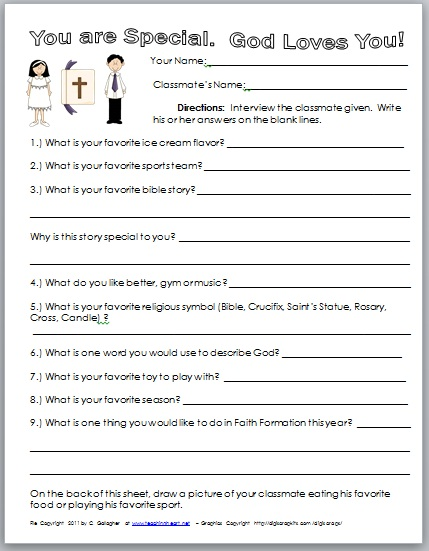 Free First Day Printables For CCD - Teaching Heart Blog Teaching