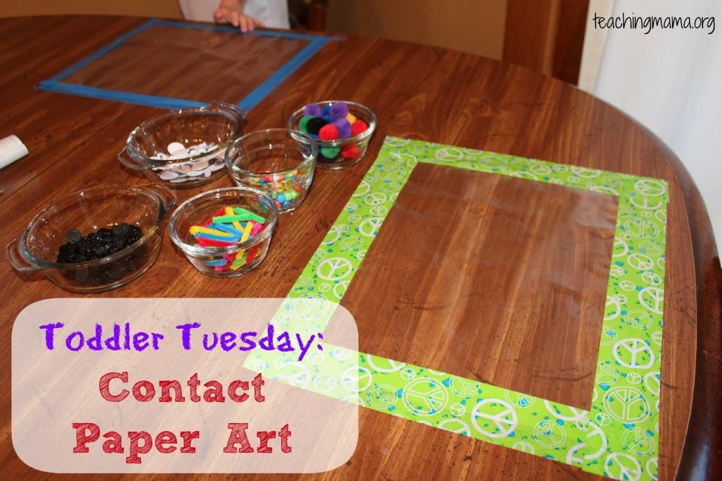 Toddler Tuesday Contact Paper Art Teaching Mama