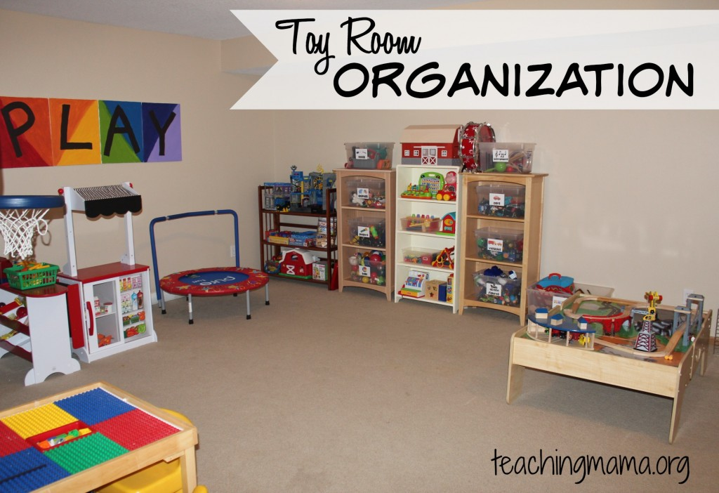 Toy Room Organization  Free Toy Bin Labels