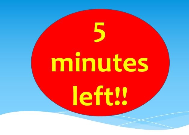 75 minute PowerPoint countdown timer for tests and exams \u2013 Teacha!