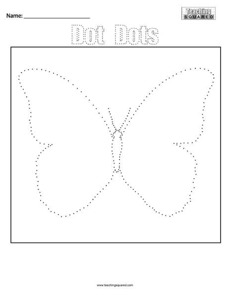 Dot Dots- Butterfly - Teaching Squared