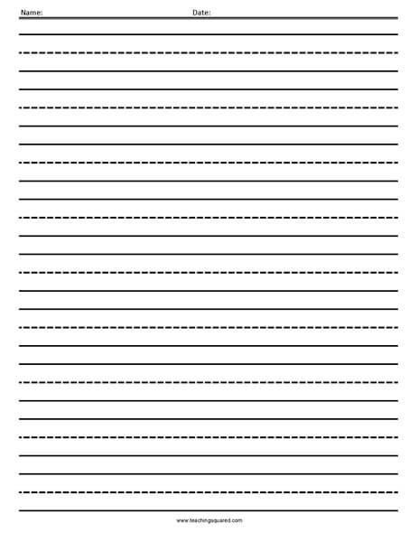 Writing Paper - Teaching Squared - lined pages for writing