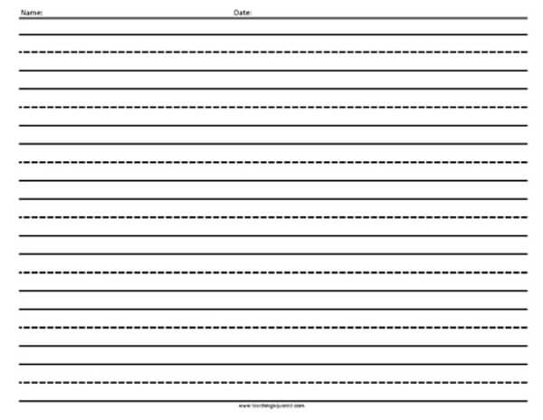 Horizontal Lined Paper- Writing Paper - Teaching Squared - horizontal writing paper
