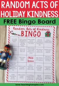 Random Acts of Kindness Ideas for Students: FREE Christmas