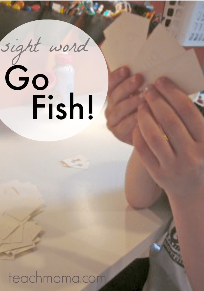 sight word go fish: prepare kids for kindergarten teachmama.com