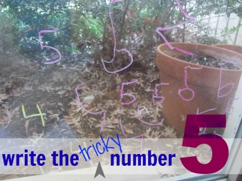 how to teach kids to write number 5